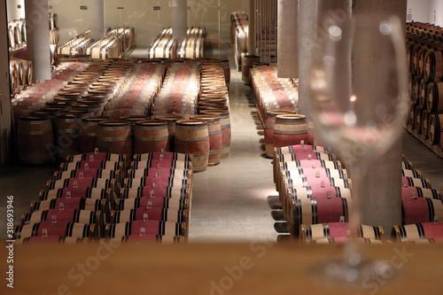 Fotografie, Obraz Barrels In Factory