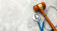 Judge Gavel And Stethoscope. T...