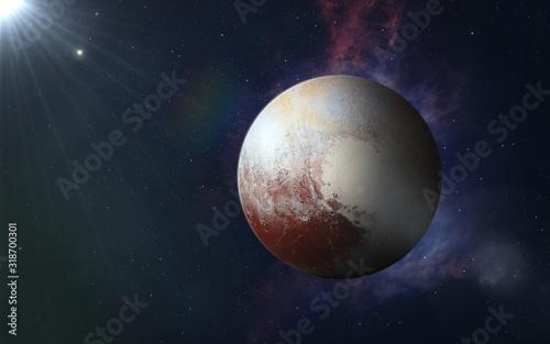 Foto Dwarf planet Pluto.