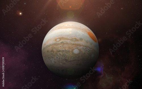 Planet Jupiter. Wallpaper Mural