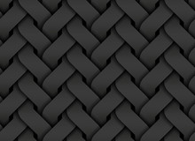 Black Seamless Pattern Of Entw...