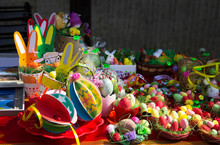 Easter Eggs In Bulgaria. Brigh...