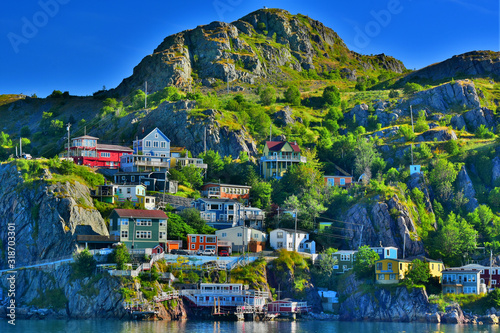 Sunrise HDR image of The Battery, St John's, Newfoundland Fototapeta