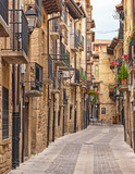 Fototapeta Uliczki - Historic old town of Laguardia, Spain