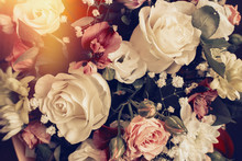Vintage Composition With Flowe...
