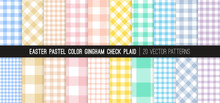 Easter Pastel Rainbow Gingham ...