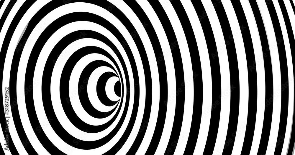 Fototapeta Vector optical illusion stripped spiral background.