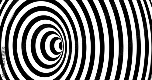 Cuadros en Lienzo Vector optical illusion stripped spiral background.