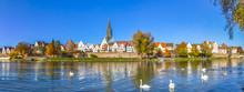 Panorama Der Stadt Ulm Mit Mü.
