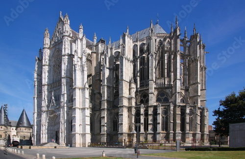 Complex gothic buttress architecture around the apse of Beauvais city cathedral Tapéta, Fotótapéta