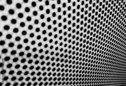 Valokuvatapetti Full Frame Shot Of Perforated Metal
