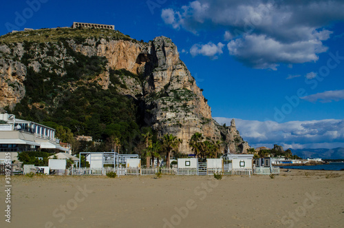 Beach in Terracina, Province of Latina, Italy Canvas-taulu