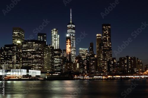 Fototapety, obrazy: ILLUMINATED CITY LIT UP AT NIGHT