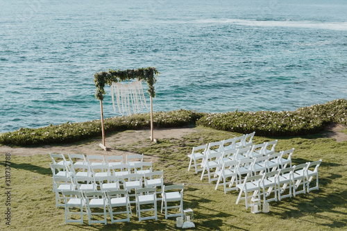 Fotografie, Obraz intimate elopement on the beach over the ocean