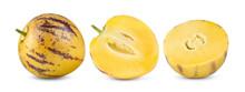 Pepino Melons On A White