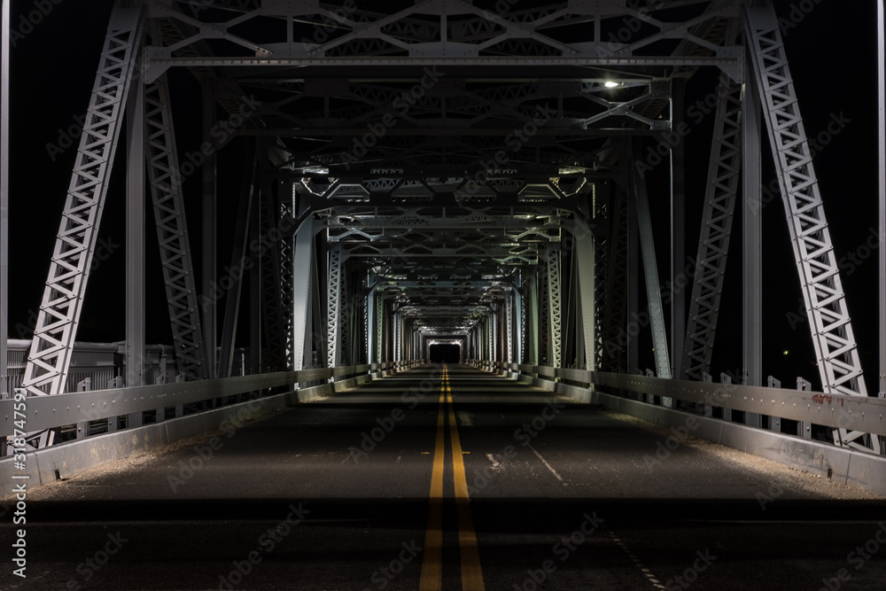 Fototapeta Bridge At Night