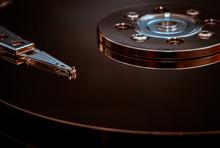 Close-Up Of Hard Disk