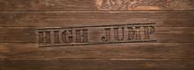 Web Sport Label High Jump