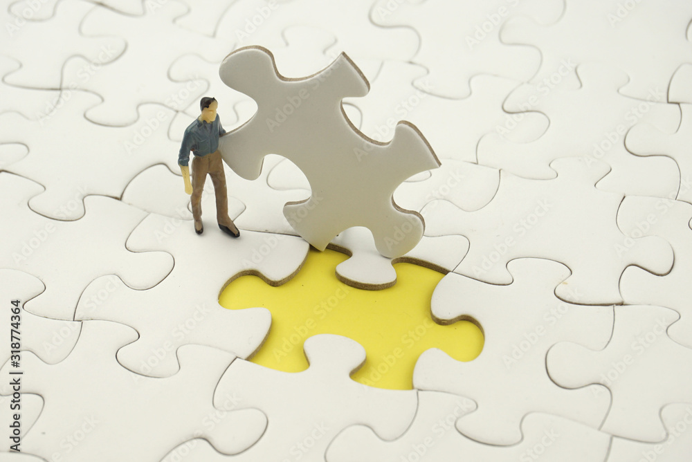 Fototapeta puzzle with missing piece