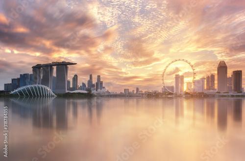 Fotografie, Obraz SCENIC VIEW OF CITYSCAPE AGAINST SKY DURING SUNSET