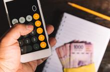 Budget, Calculator, Counting Money, Mexican Pesos