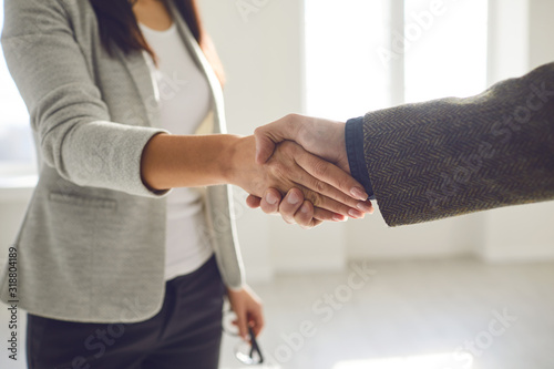 Leinwand Poster Handshake of businesspeople