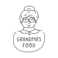 Grandma's Food. Vector Hand Dr...