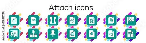attach icon set Canvas Print