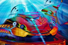 Close Up Of Colorful Auto Scoo...