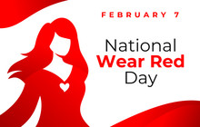 National Wear Red Day Vector B...