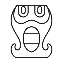 Mask Of Totem Vector Icon.Line...