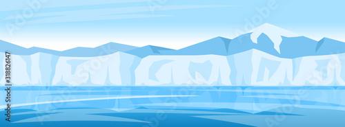 Fotografie, Obraz winter arctic ice landscape