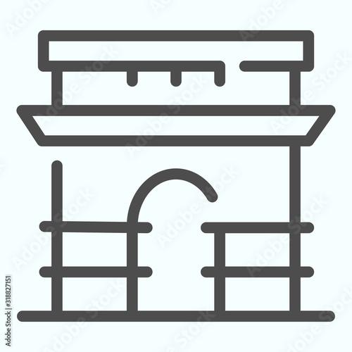 Photo Triumphal Arch line icon