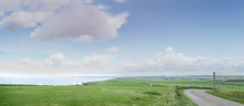 Panoramic Landscape On Cloudy ...