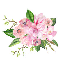 Finished Image Of A Bouquet Of...