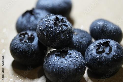 Valokuva Close-Up Of Wet Blueberries