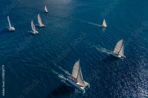 Regatta in the Indian Ocean Fototapeta