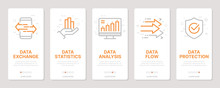 Data Related Vertical Cards. M...