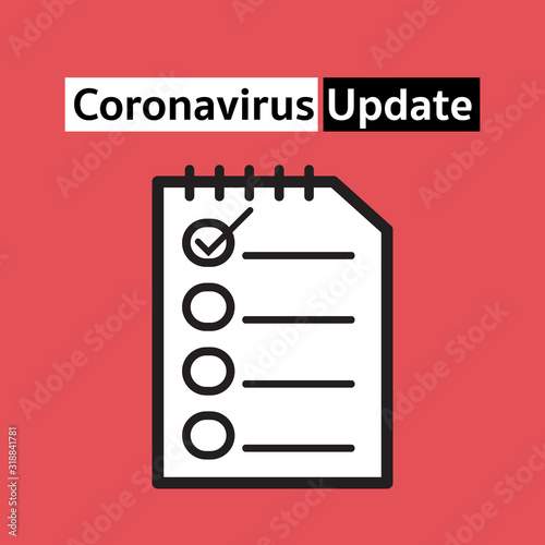 coronavirus update concept for infectious Canvas Print