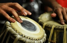 Cropped Hands Playing Tabla