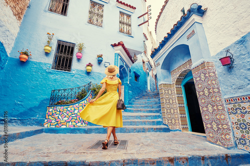 Stampa su Tela Colorful traveling by Morocco