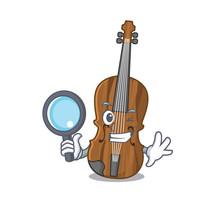 Cool And Smart Violin Detective Cartoon Mascot Style