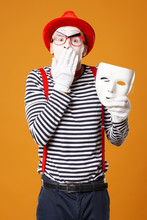 Surprised Mime In Red Hat And ...