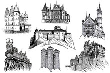 Graphical Hand-drawn Set Of Ca...