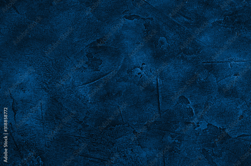 Fototapeta Marble or concrete background of classic blue color (concept of Classic Blue as the Color of the Year 2020)