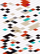 Color Geometric Block Pattern ...