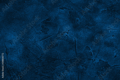 Fototapety, obrazy: Marble or concrete background of classic blue color (concept of Classic Blue as the Color of the Year 2020)