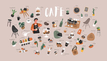 Cafe Hand Drawn Collection . C...