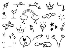 Hand Drawn Doodle Vector Colle...