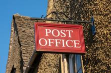 Post Office Sign In Rural Loca...